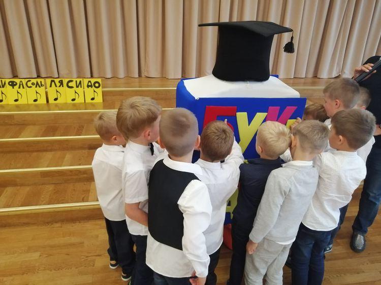 Foto: skolēni. Pirmklasnieku svētki