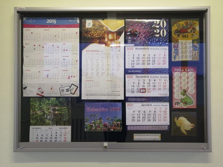 Foto: izstāde «Dažādu gadu kalendāri»