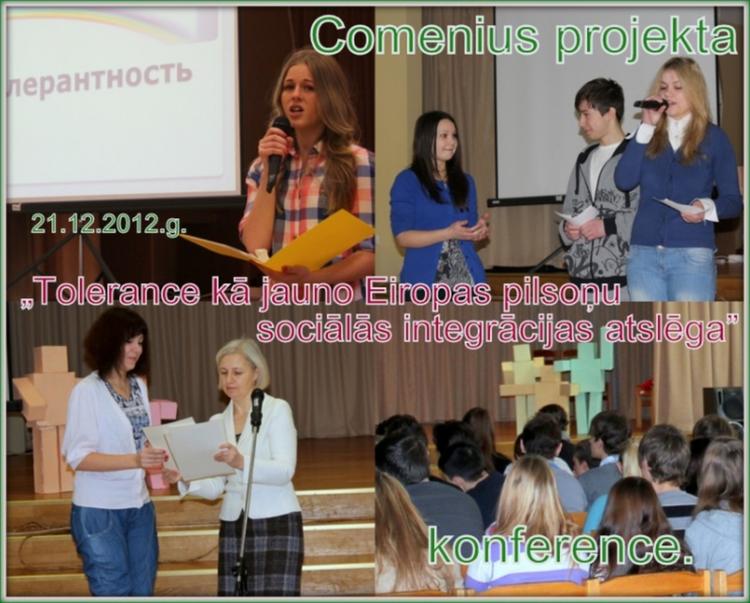 """Foto: kolāža. Konference """"Tolerance kā jauno Eiropas pilsoņu sociālās integrācijas atslēga"""""""