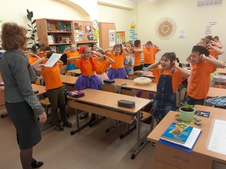 Foto: Olaines 2. vidusskolas skolēni