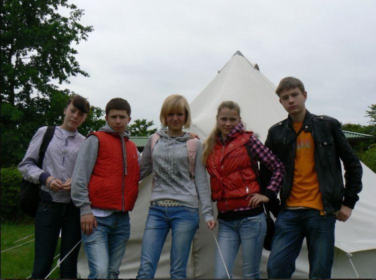Foto: Olaines 2. vidusskolas skolēni. Dalību nometnē EuroTeenscamp