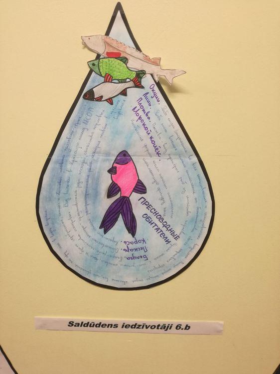 Foto: skolēnu radošie darbi. Izstāde
