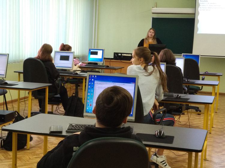 Foto: skolēni. Programmēšanas nedēļa