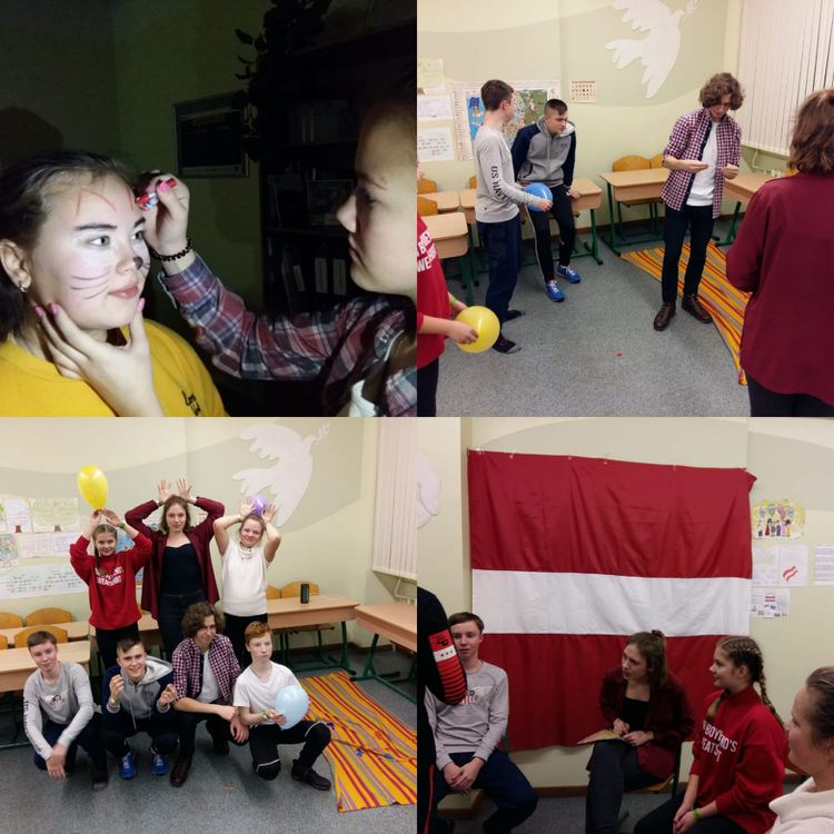 """Foto: skolēni. Projekts """"Bibliotēkas nakts: citāda Latvija"""""""