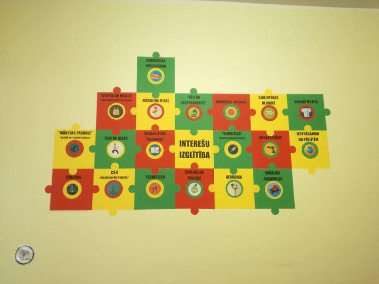 Foto: interešu izglītības stends