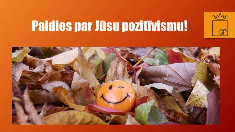 Apsveikums Skolotāju dienā: Paldies par Jūsu pozitīvismu!
