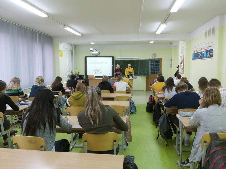 Foto: skolēni. Skolotāju diena