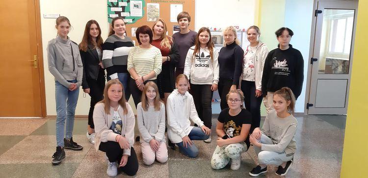 Foto: skolēni. Ekopulciņa dalībnieki